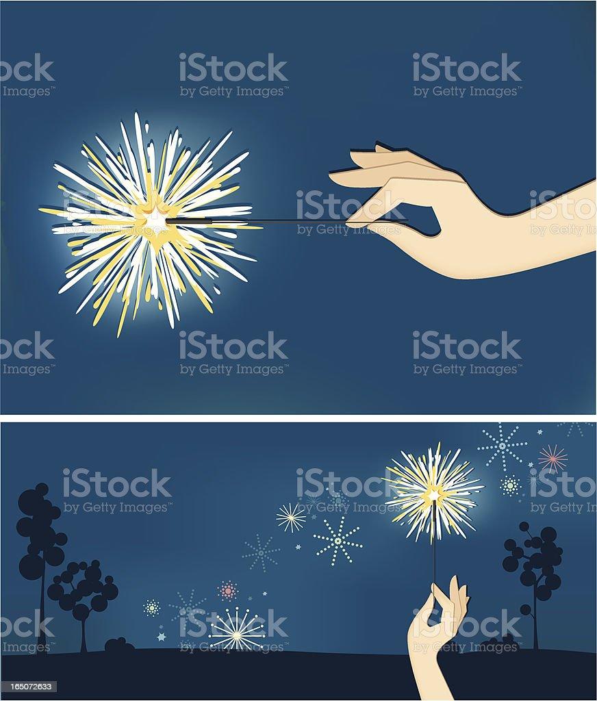 sparkler2 vector art illustration