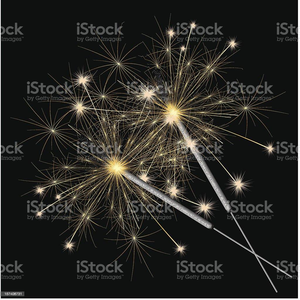 sparklers vector vector art illustration