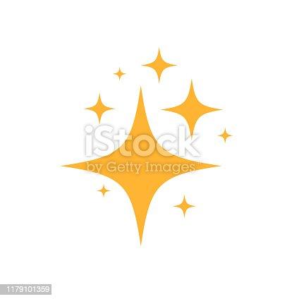 Sparkles Stars icon. on white background. Vector illustration