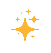 istock Sparkles Stars icon. on white background. Vector illustration 1179101359
