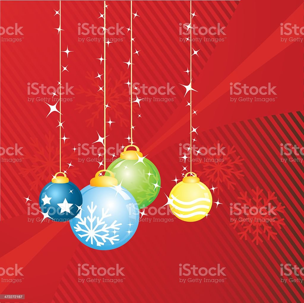 Sparkling baubles royalty-free stock vector art