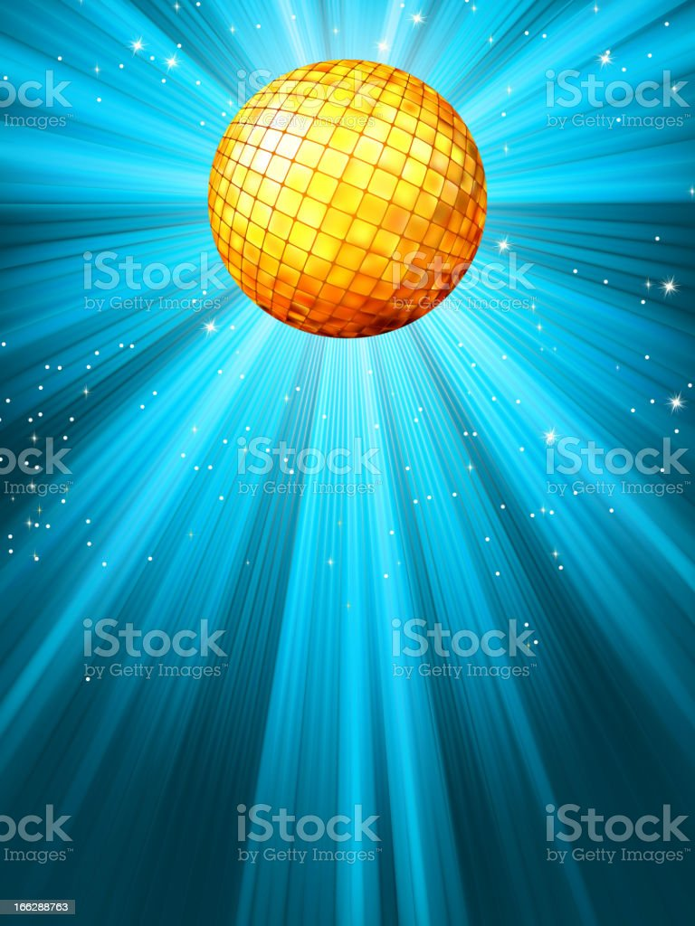 Sparkling blue disco ball. EPS 8 royalty-free sparkling blue disco ball eps 8 stock vector art & more images of backgrounds