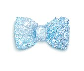 Sparkling blue glitter decorated bow, trendy fashion accessory