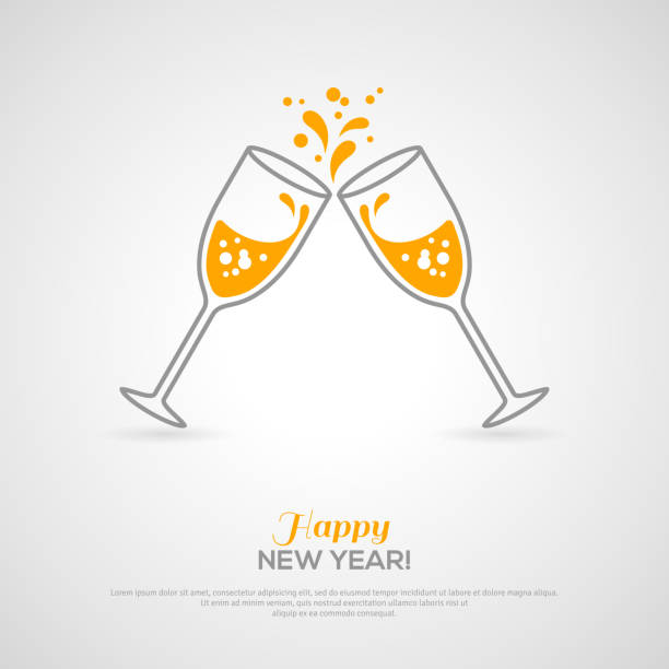 Royalty Free Champagne Toasts Clip Art, Vector Images ...
