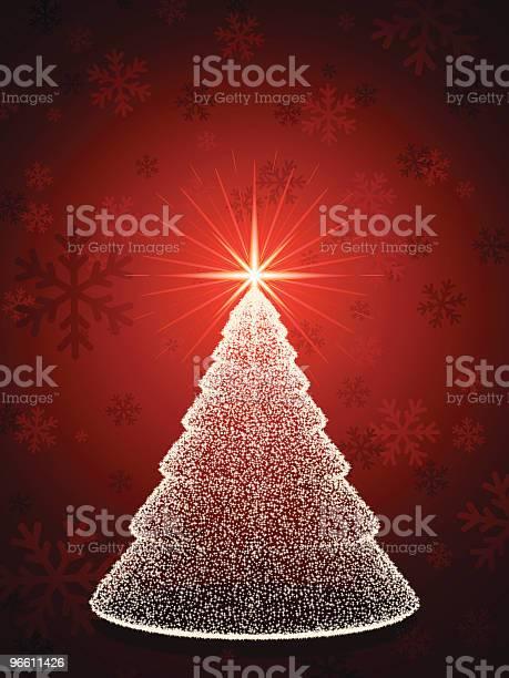 Sparkling Christmas In Red-vektorgrafik och fler bilder på Firande