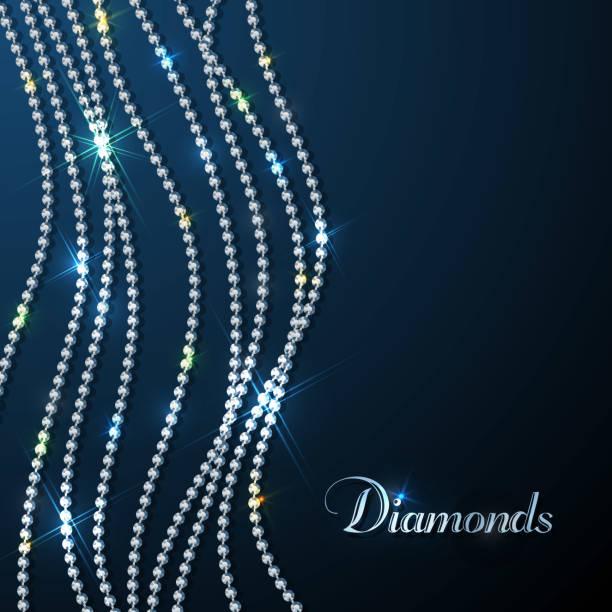 funkelnde diamanten hintergrund - modeschmuck stock-grafiken, -clipart, -cartoons und -symbole