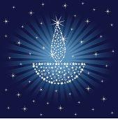 Sparkling Diwali Lamp Design