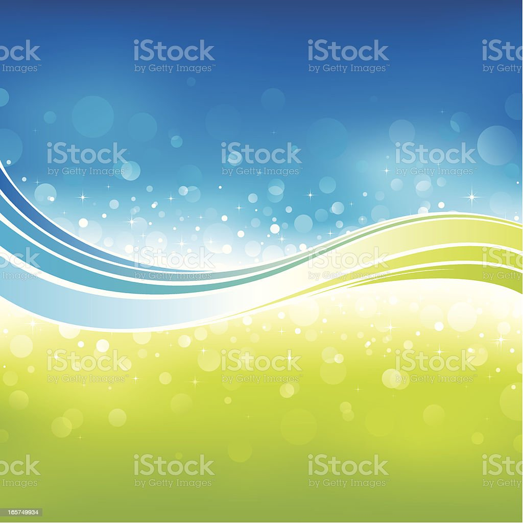 Sparkling flow background royalty-free stock vector art