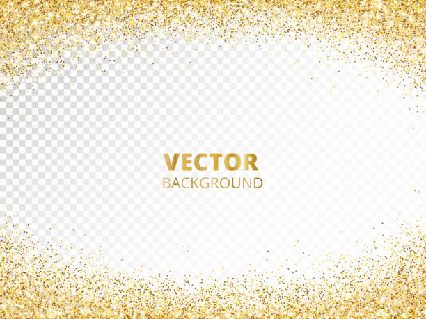 Sparkling glitter border, frame. Falling golden dust isolated on transparent. Vector gold glittering decoration. Sparkling glitter border, frame. Falling golden dust isolated on transparent. Vector gold arch decoration. For wedding invitations, party posters, Christmas, New Year and birthday cards. rock formations stock illustrations