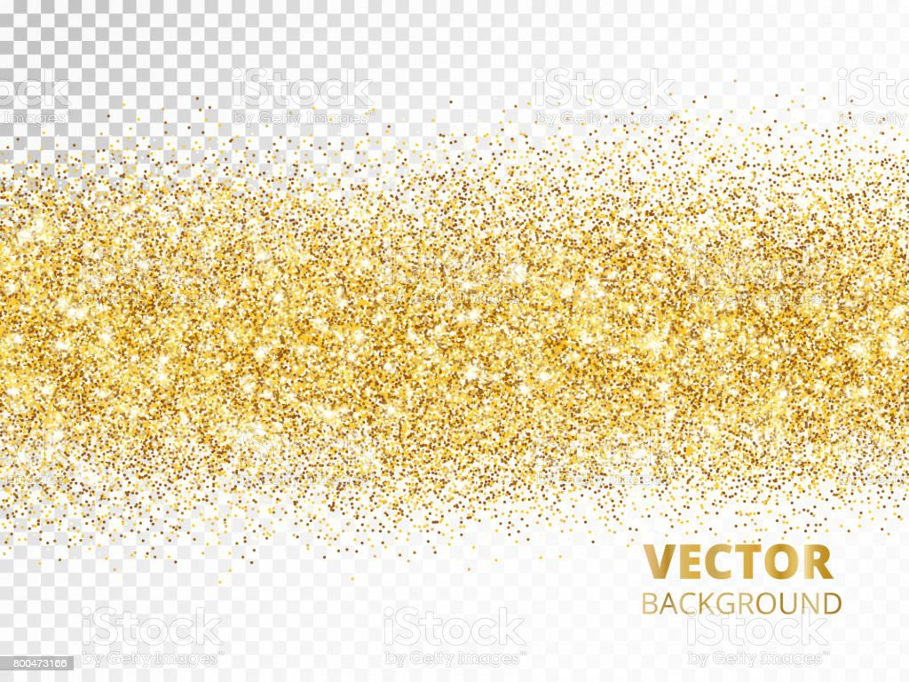 Sparkling glitter border isolated on transparent background, vec vector art illustration