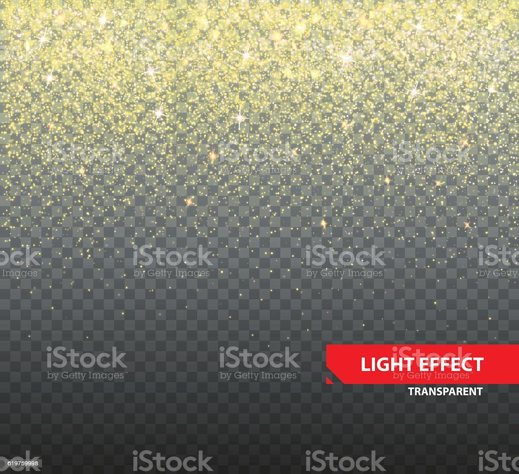 Sparkling glitter on transparent background vector art illustration
