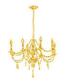 Chandelier made of gold glitter illustration