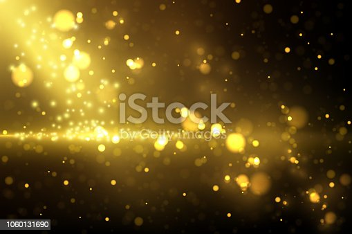 e9760dcb768 Sparkling Golden Particles On Dark Stock Vector Art   More Images of  Abstract 1060131690