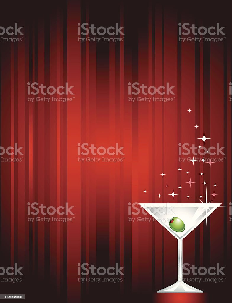Sparkling Martini royalty-free stock vector art