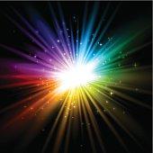 Sparkling rainbow background
