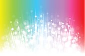 Sparkling white explosion on a bright rainbow background.  EPS10 file using transparencies