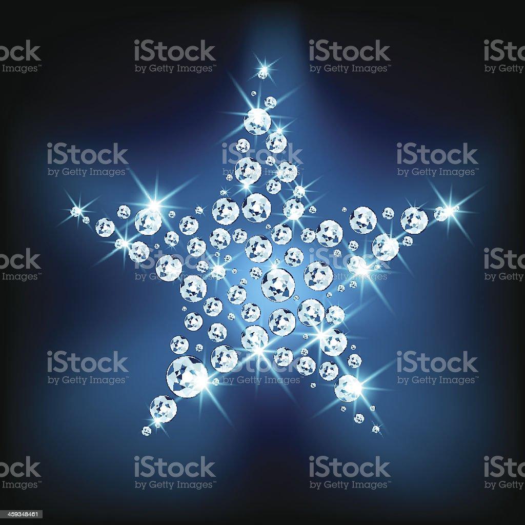 Sparkling star vector art illustration