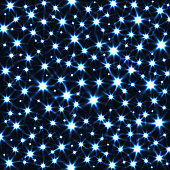 Sparkling Stars in Dark Vector Background. Abstract Magic Texture.