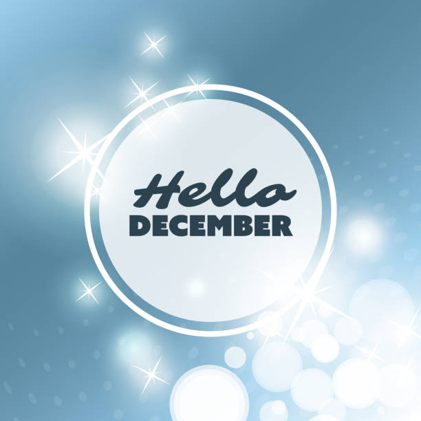 stockillustraties, clipart, cartoons en iconen met sparkling winter concept design template with abstract blurred background - december