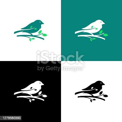 istock Sparrow Bird Logo 1279580350