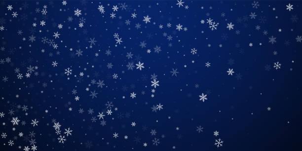 bildbanksillustrationer, clip art samt tecknat material och ikoner med glesa snöfall jul bakgrund. subtilt flyin - parad