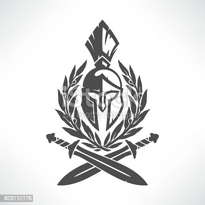 istock Sparta coat of arms 623112176