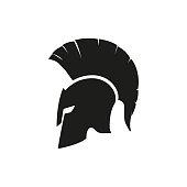 istock Sparta helmet mask isolated icon. Vector design logo illustration in flat 1246163525