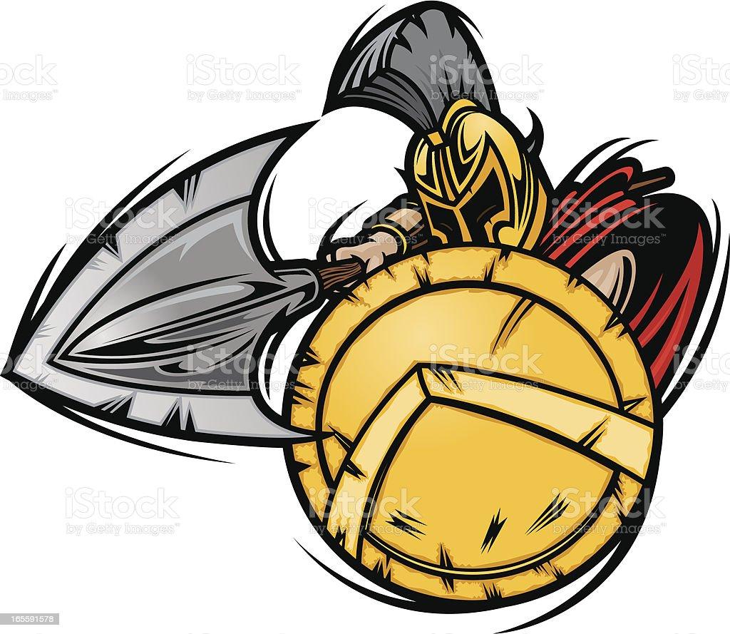 Spartan Charge vector art illustration