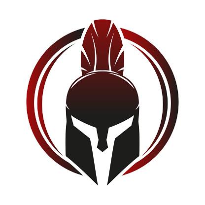 Spartan helmet icon.