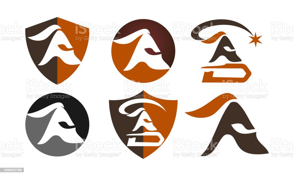 spartan helmet template set stock vector art more images of