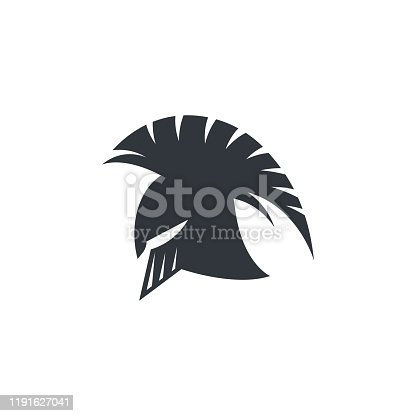 Spartan helmet vector icon illustration