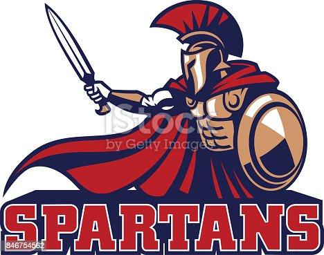 vector of spartan mascot