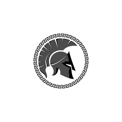 spartan medicine vector logo design