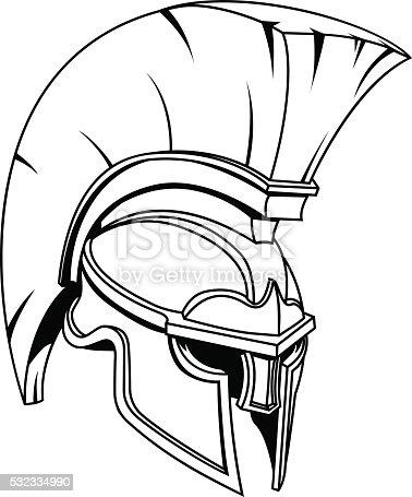 Spartan Or Trojan Gladiator Helmet Stock Vector Art & More