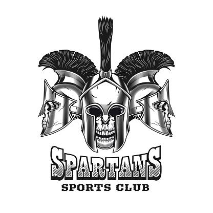 Spartan skulls emblem design