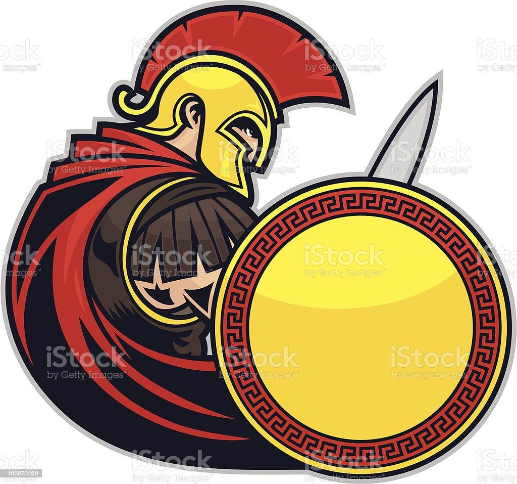 Spartan Trojan Warrior royalty-free stock vector art