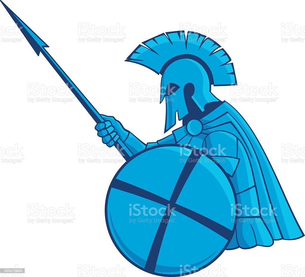 Spartan vector art illustration