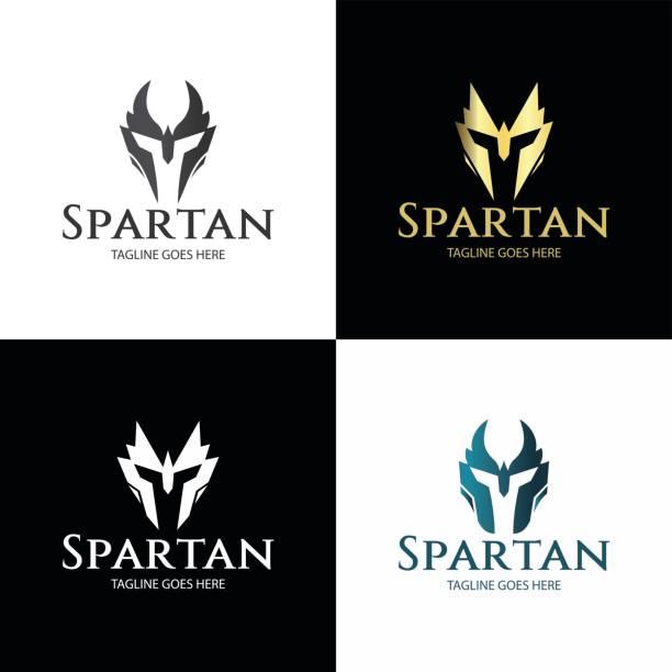 spartan - sportschutzhelm stock-grafiken, -clipart, -cartoons und -symbole