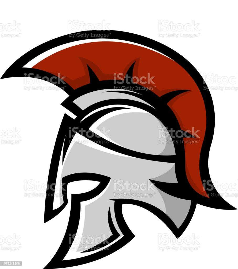 Spartan Warrior Helmet Sports Team Emblem Template Stock Vector Art