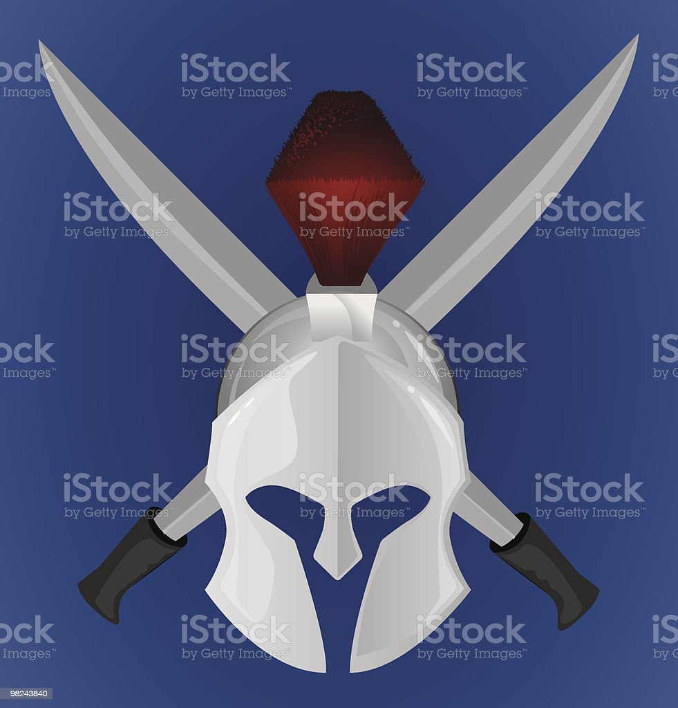 Spartan Warrior Helmet royalty-free spartan warrior helmet stock vector art & more images of ancient civilization