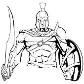 Spartan Warrior Mascot