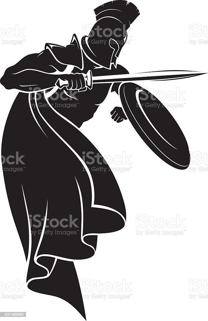 Spartan Warrior vector art illustration