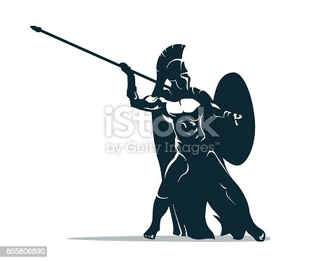 istock Spartan warrior 855806890