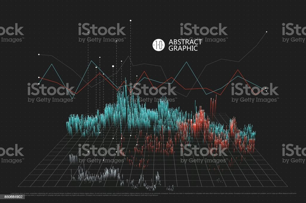A spatial information chart, abstract graphic design. vector art illustration