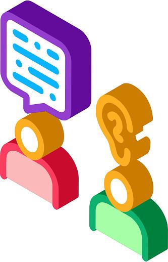 Speak And Listen isometric icon vector illustration