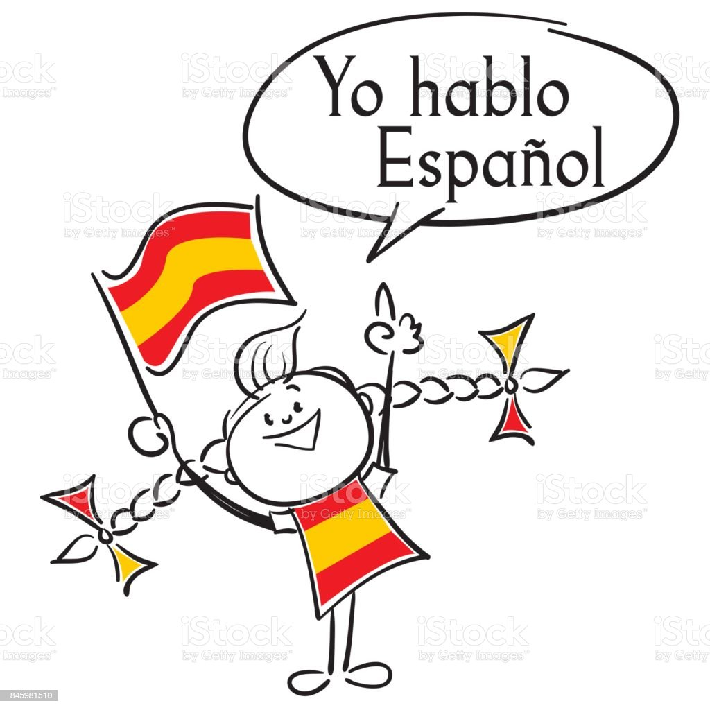 Yo Hablo Espanol - Illustration vectorielle