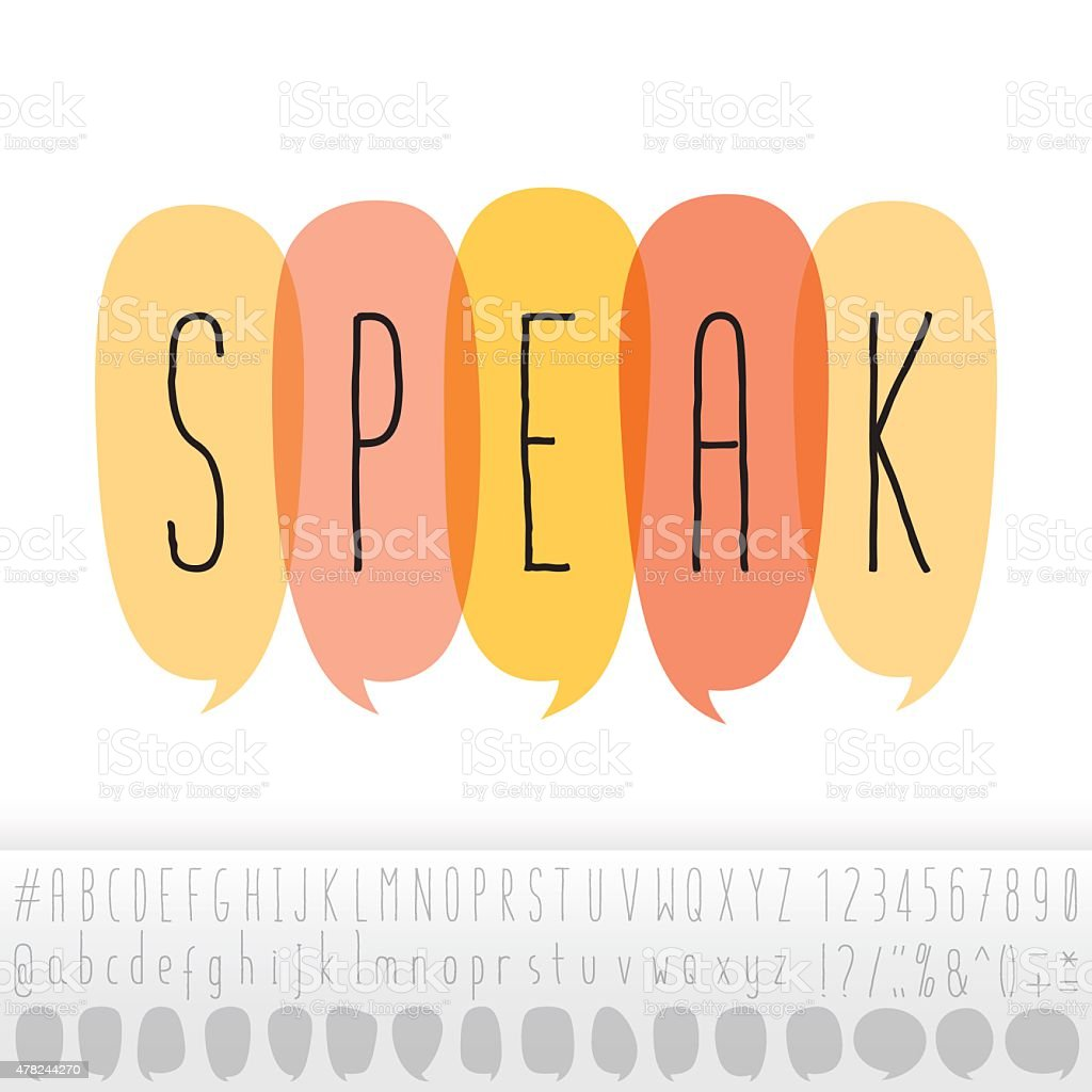 Speak text in speech bubbles with alphabet design set stock vector speak text in speech bubbles with alphabet design set royalty free speak text in speech biocorpaavc
