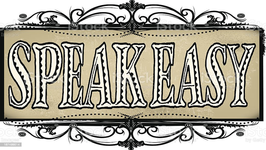 speakeasy sign prohibition stock vector art amp more images