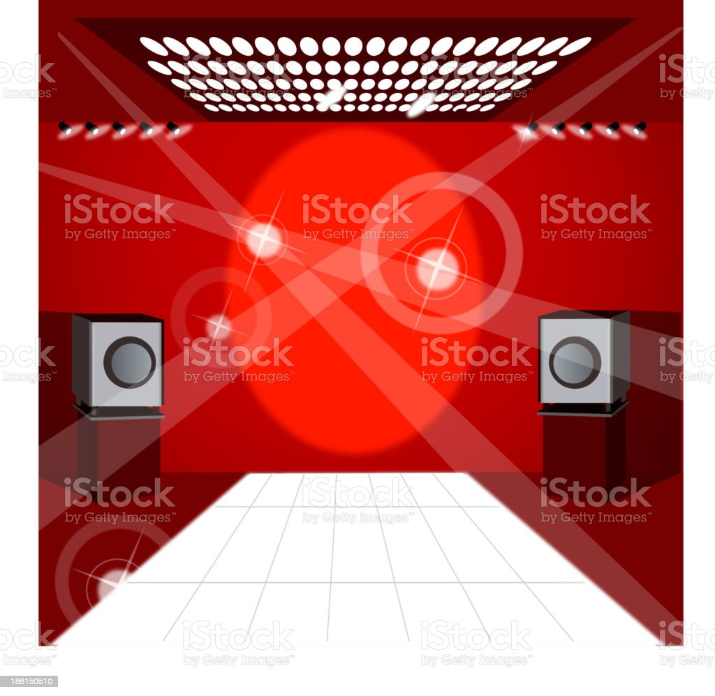 Speaker and lights vector art illustration