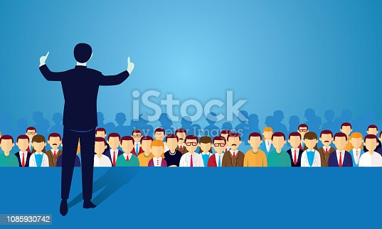 istock Speaker at Seminar 1085930742